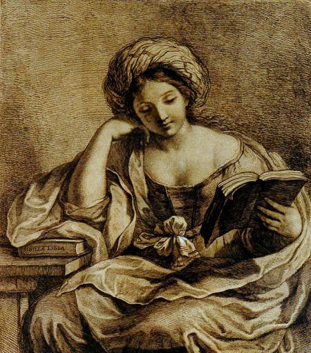 Girl reading, Francesso Bartolozzi