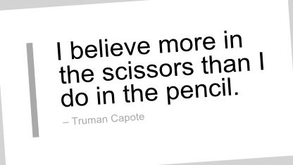 Scissors Truman Capote